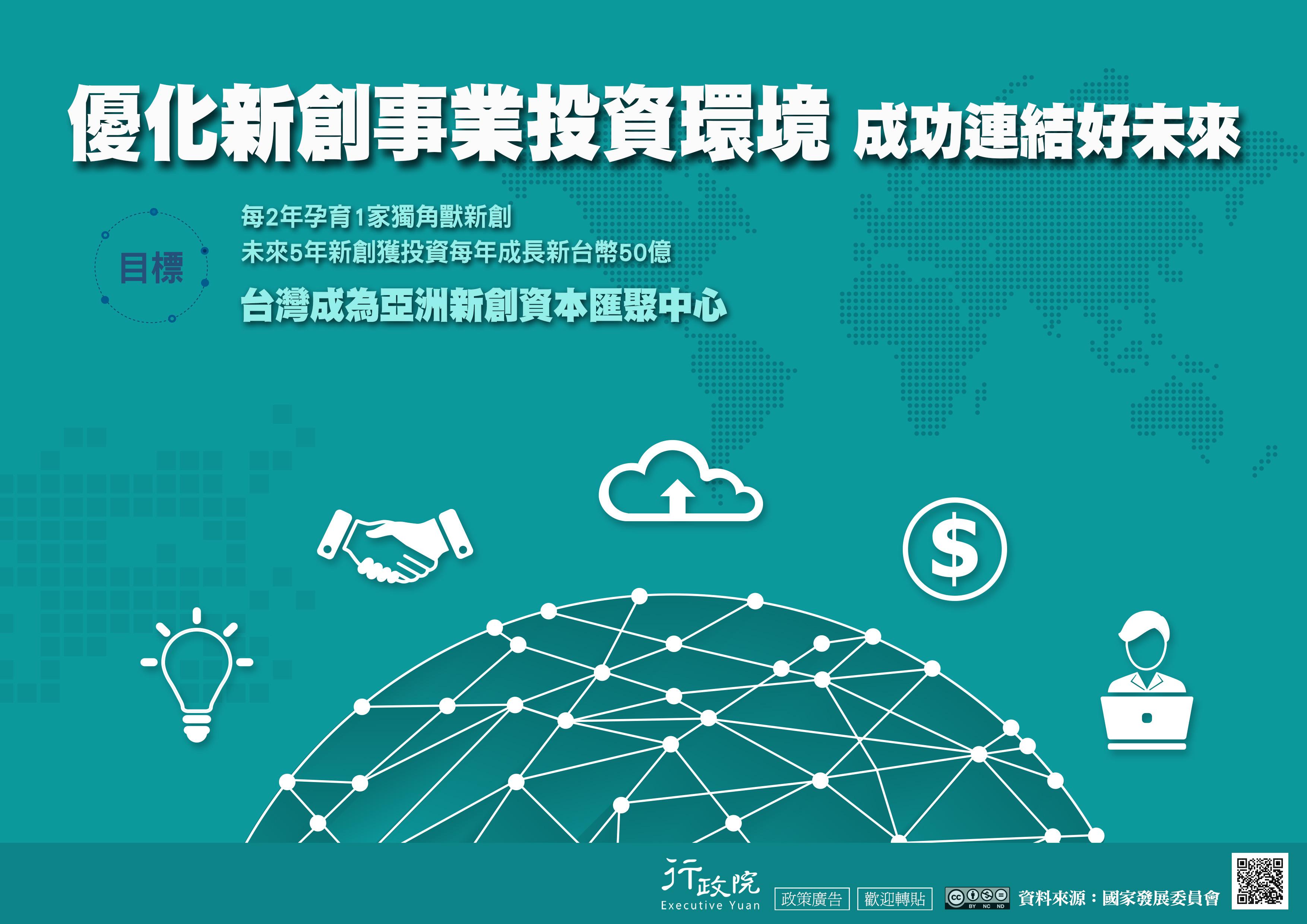 優化新創事業投資環境 成功連結好未來